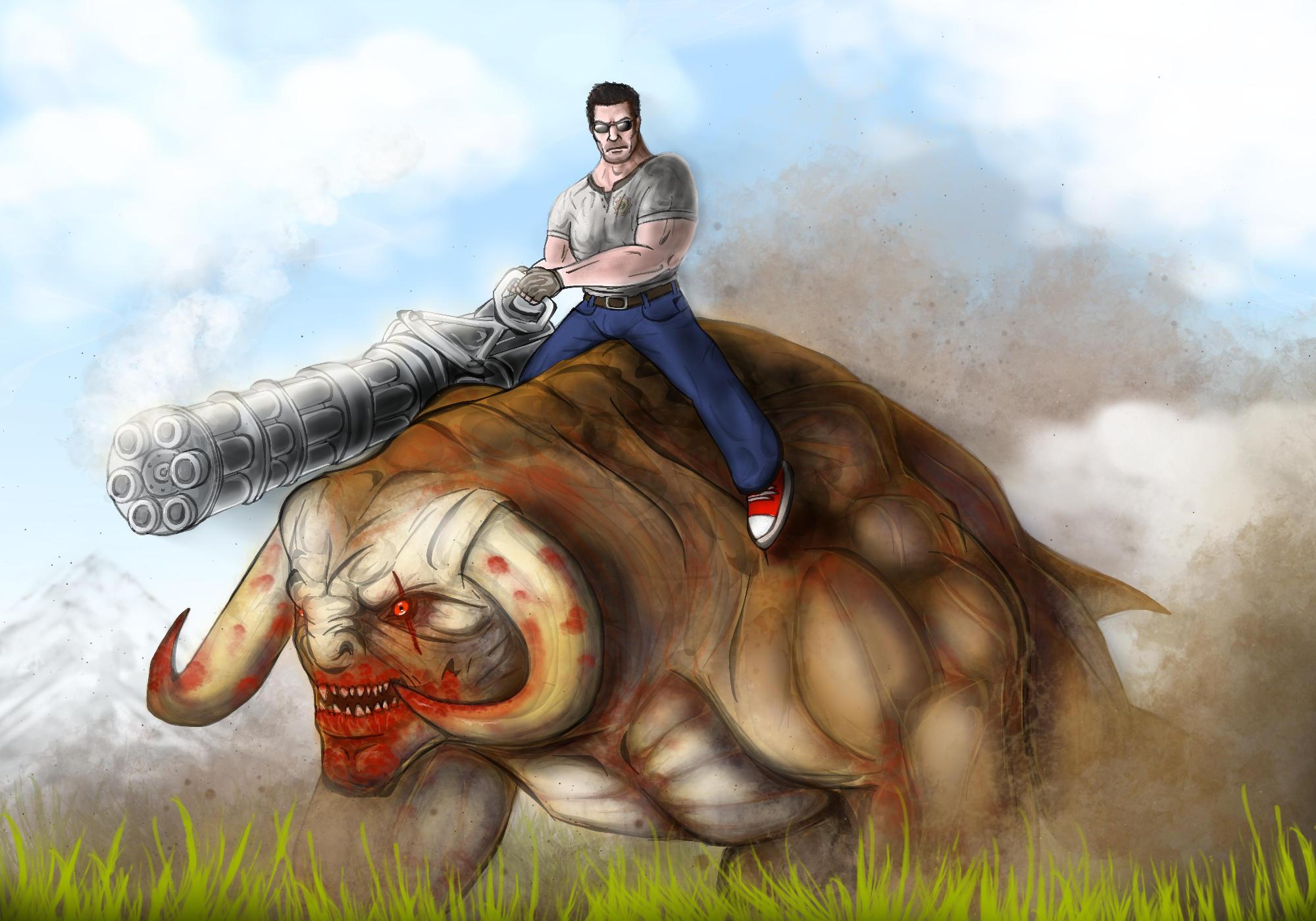 Werebull Rider by ImmortalTartal