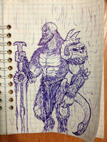 Demon's ballpoint pen concept by ImmortalTartal