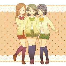 Inazuma eleven girls by Rinaar