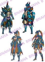 Lagiacrus Armor by Bnaha
