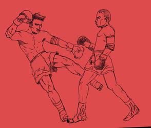 Muay Thai Fighters by AndreeDeJardjais