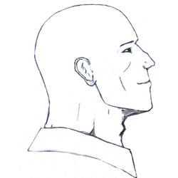 Sketch of human head by ATiGr