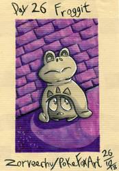 Undertale Inktober Day 26 Froggit by PokefoxArt