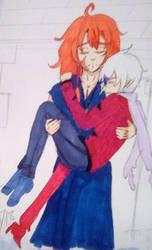 Ace and Nasuada by CLOVERangel99