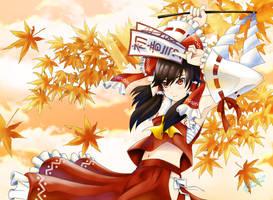 Maiden of Hakurei Shrine by Aquamarine-39