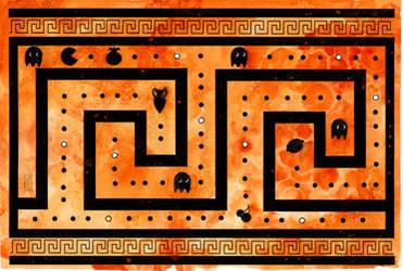 Greek Key Pacman by dancingheron
