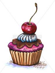 Cherry Cupcake by eikasma