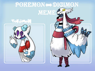 Pokemon to Digimon Meme by Strontium-Chloride