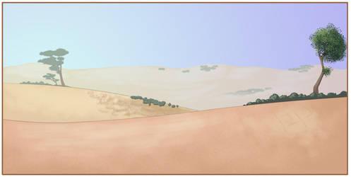 Digital Desert Painting by RealBigNUKE