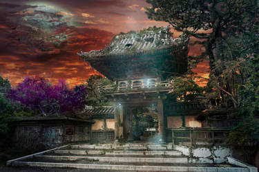 Asian Temple by carnivore-art