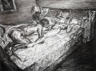 Untitled, 2005, charcoal on paper, 135x180 cm by ThanosStokas