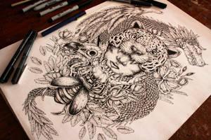 T-shirt desing (Guerrero Jaguar) by EG-TheFreak