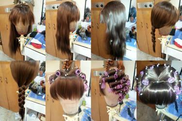 Wendy Darling -- Disney Inspired Wig WIP by HannahBlosser