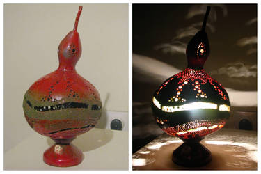 red lamp by milanglo
