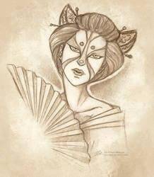 Sketch page - Jin by Sleyf