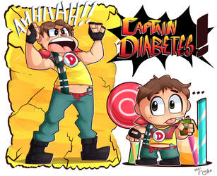 The incredible Captain Diabetes by CharlsHamps