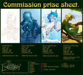 Commission prise sheet. by Laterne-Magica