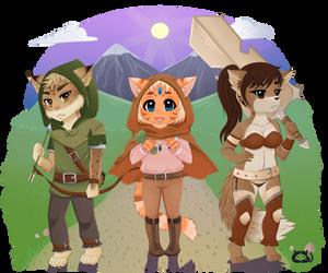 Trio: Creason, Aliria and Rana by Cera-Miaw