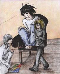 L, Near and Mello by animefan172