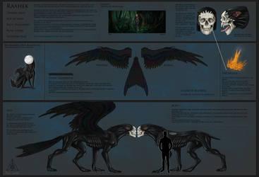Raahek - Character sheet by Kerber-wolf