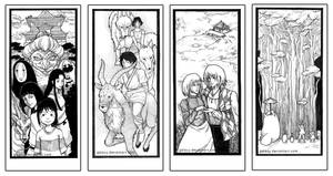 Studio Ghibli Bookmarks by galazy