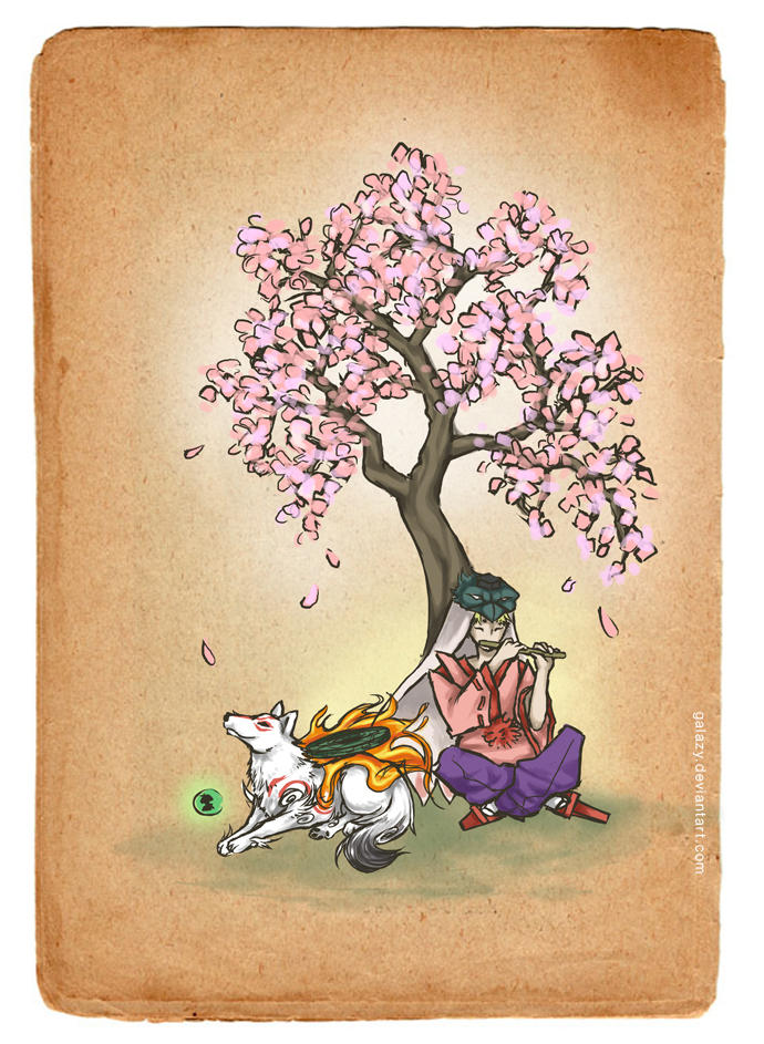 Okami With Waka By Galazy On Deviantart