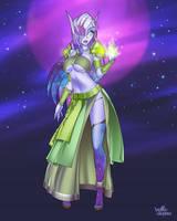 Korra, Void Elf Warlock by velladonna