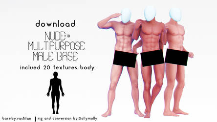 [MMD] Nude Multipurpose Male Base (DL) [+18] by DollyMolly323