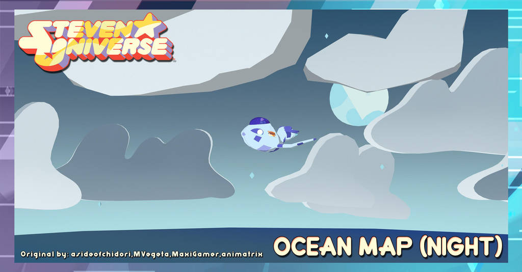 Mmd Steven Universe Map Ocean Night Dl By Dollymolly323 On