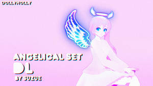 [MMD] Suzue Angelical Set Outfit (DL) by DollyMolly323