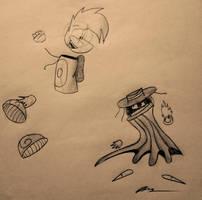 Rayman and Mr. Dark by xAl-Artsx