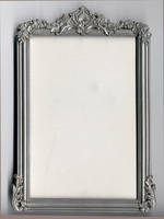 Silver Frame by AsphyxiaStock