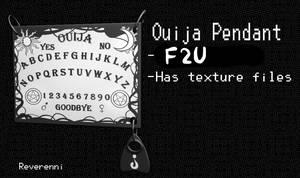 F2U Ouija Board Pendant MMD by Reverennii