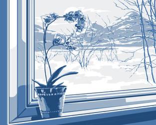 Winter outside the window ... by Vilenchik