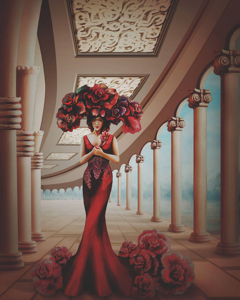 The Lady in Red by Vilenchik