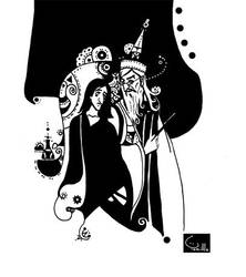 Snape and Dumbledore by Tamillla