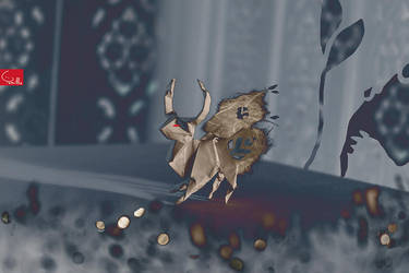 deer-origami-cannibals 3 by Tamillla