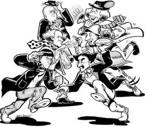 Stooges Vs. Marx Brothers by vaudeville-comedy