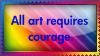 Art Courage Stamp by r0ckmom