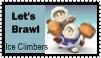 Ice Climbers Brawl Stamp by r0ckmom