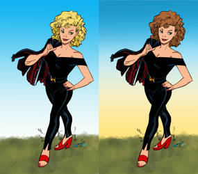 Rousseau's Sandy  Blonde or Brunette by ComicBookArtFiend