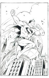 Art Deco Superman Inked - Jason Moore by ComicBookArtFiend