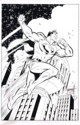 Art Deco Superman Inked - Al Gordon by ComicBookArtFiend