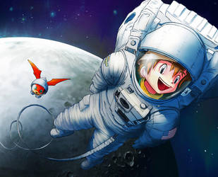 space walk digimon by smash222