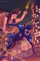 Nightwing and Zatanna by Pryce14