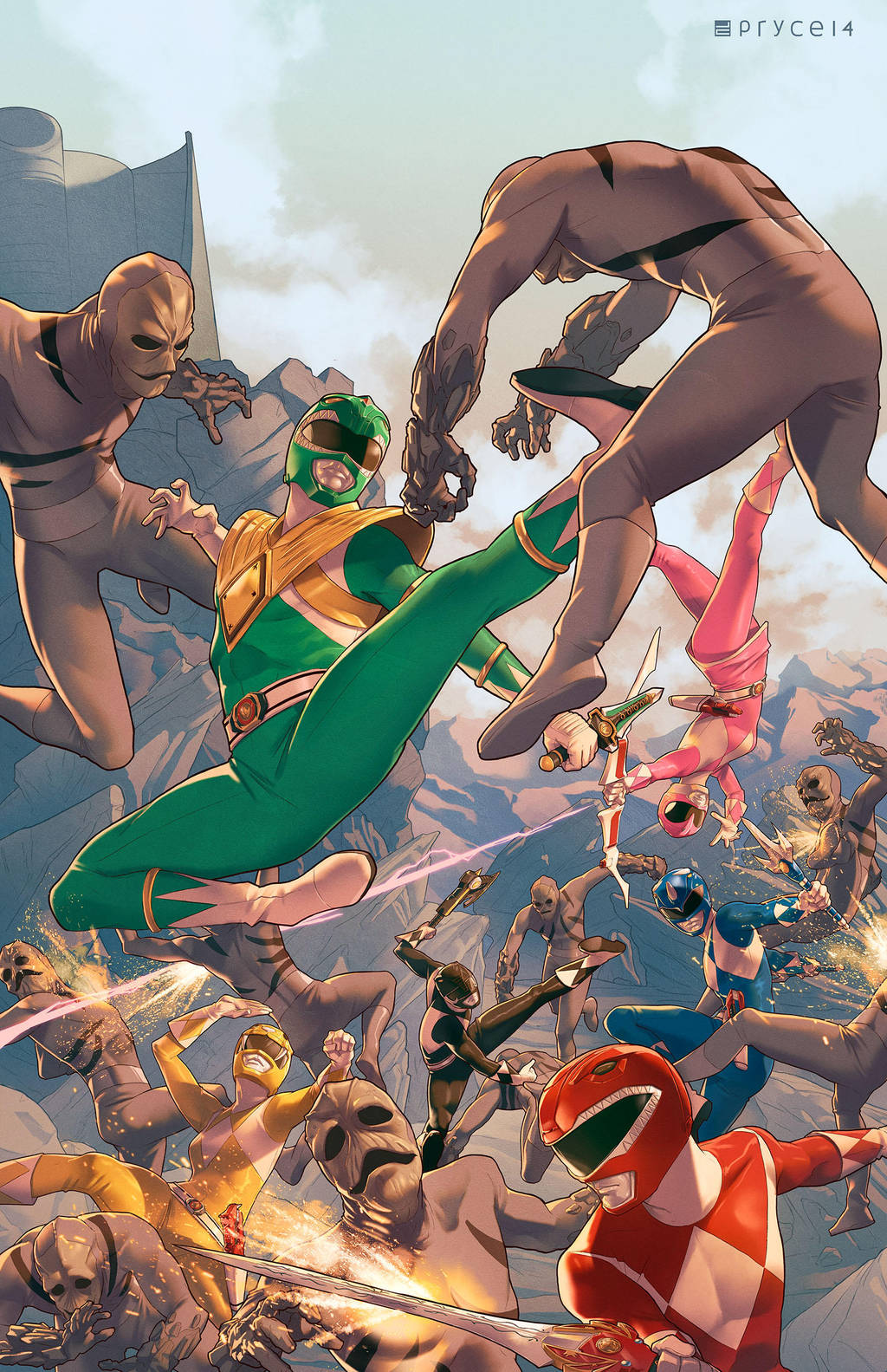 Mighty Morphin Power Rangers #1 by Pryce14