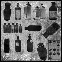 Poison Bottle Brushes 1 by Falln-Brushes