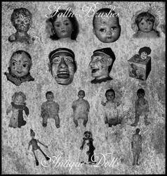 Antique Doll Brushes by Falln-Brushes