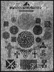 Celtic Knot Brushes by Falln-Brushes