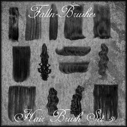 Hair Brushes Set 3 by Falln-Brushes